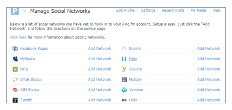 Manage Social Network