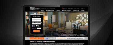 Milestone Internet Marketing - Boutique Hotel Websites Design Portfolio