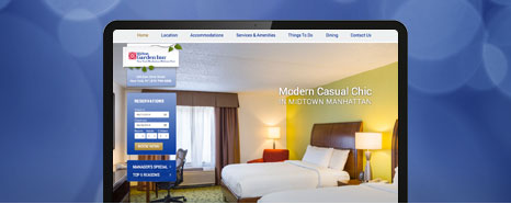 Milestone Internet Marketing - Hilton Hotel Websites Design Portfolio