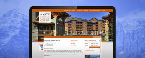 Milestone Internet Marketing - Hyatt Hotel Websites Design Portfolio