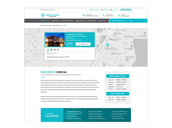 Milestone Local Pages - Healthcare