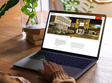 Hotel Website Design - Milestone Inc.