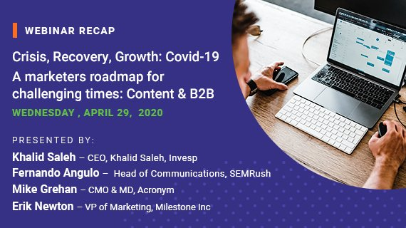 Covid-19 Crisis-Recovery-Growth: Content and B2B Strategy